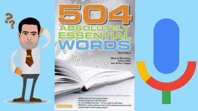 دانلود رایگان فایل صوتی کتاب 504 واژه یادگیری واژگان زبان انگلیسی
