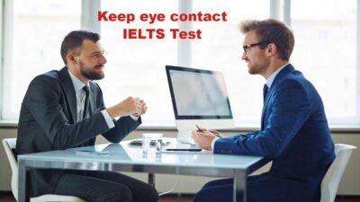 تماس چشمی ممتحن IELTS